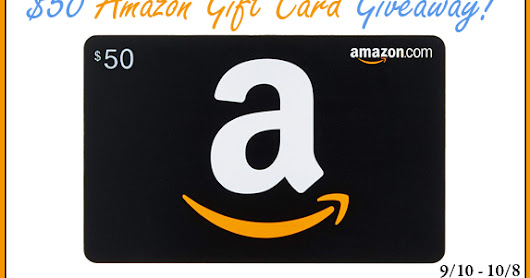 $50 Amazon Gift Card #Giveaway! Ends 10/8