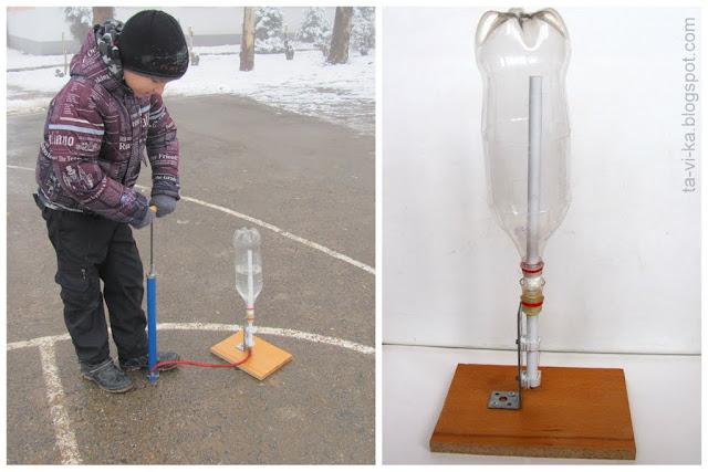 как сделать водяную ракету handemade rocket