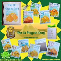 http://www.biblefunforkids.com/2013/09/moses-10-plagues-song-flipchart-and-more.html