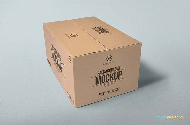 Photorealistic Packaging Box Mockup PSD