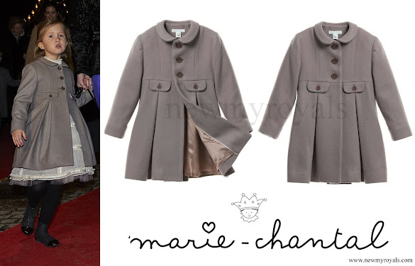 Princess Josephine wore MARIE-CHANTAL Girls Grey Coat