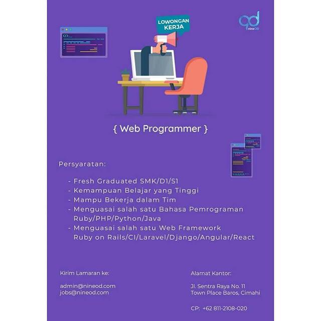Lowongan Kerja Web Programmer di Cimahi