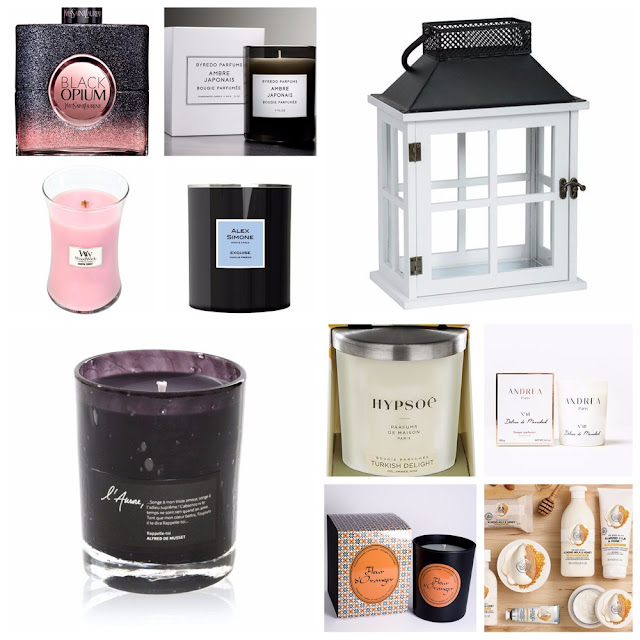 wishlist, coup de coeur, revue délices de marrakech andrea paris, rappelle toi l'aurore paris, l'exquise alex simone, ambre japonais byredo, turkish delight hypsoe, black opium flower shock ysl, coastal sunset woodwick, coastal living beach house yankee candle, almond milk honey thebodyshop, fleur d'oranger mlle lulubelle, bougies