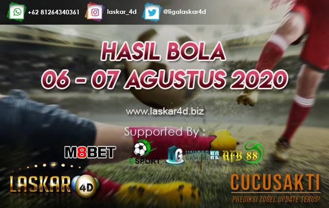 HASIL BOLA JITU TANGGAL 06 – 07 AGUSTUS 2020