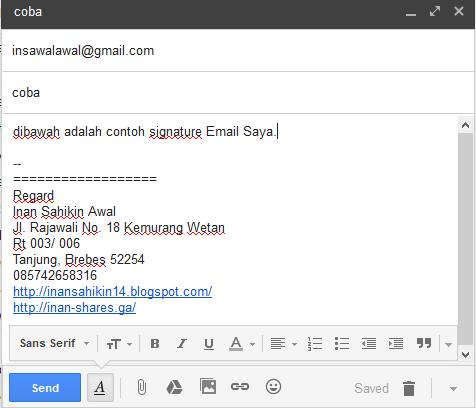 Cara membuat signature Email - Tut-Sahikin