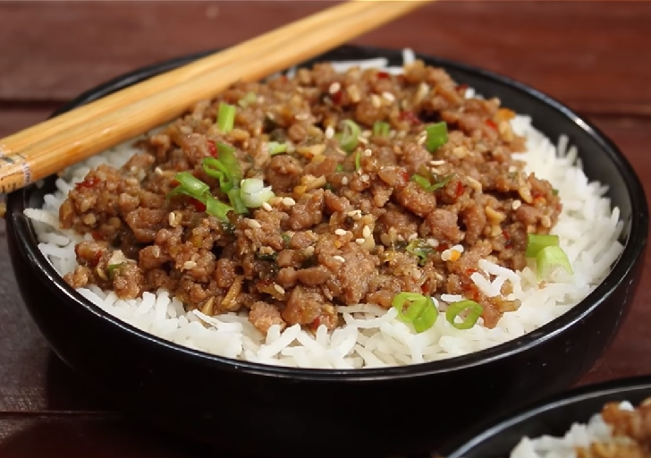 Minced Meat with Rice Recipe