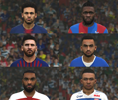 PES 2017 Facepack vol 7 by BenHussam Facemaker