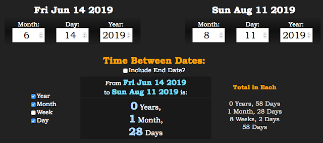 how much time between dates