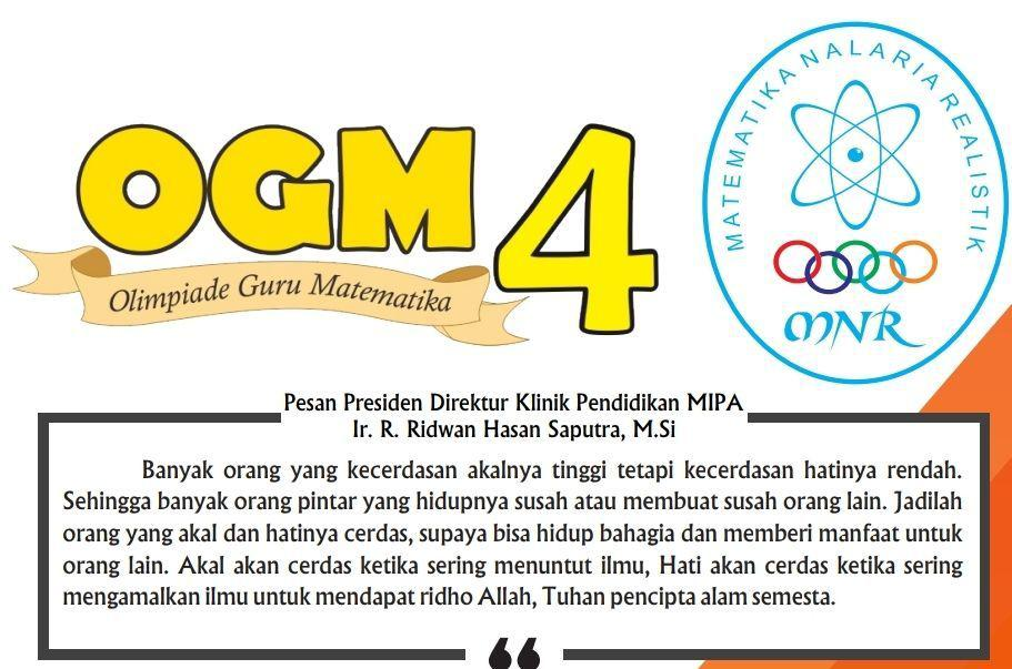 Soal Olimpiade Guru Matematika (OGM) KPM