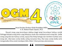 Soal Olimpiade Guru Matematika (OGM) ke-4 KPM Tahun 2019