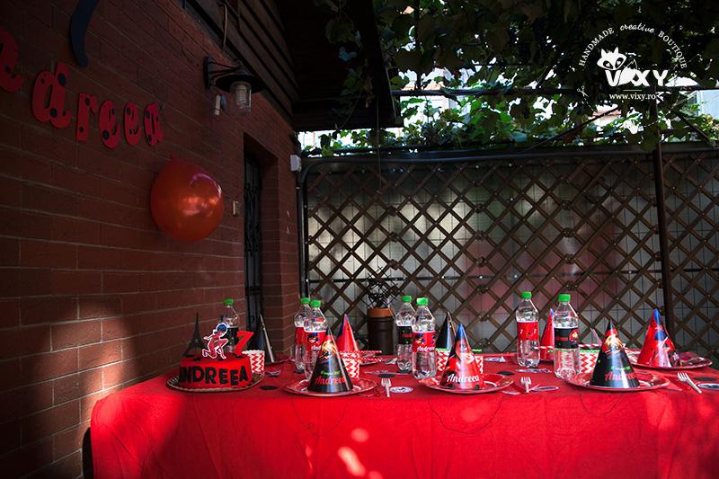 petrecere personalizata, petrecere ladybug, miraculous, cat noir, ladybug petrecere, buburuza si motanul negru, tema petrecere copii, vixy.ro, tema petrecere buburuza