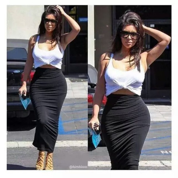 f76a81dbc2 Kim Kardashian usually wears this Wolford dress as a maxi tube skirt or  dress as seen above and below.