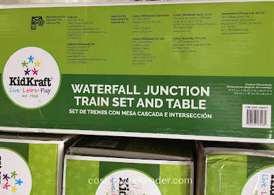 Costco 949877 - Hours of fun with the KidKraft Waterfall Junction Train Set and Table