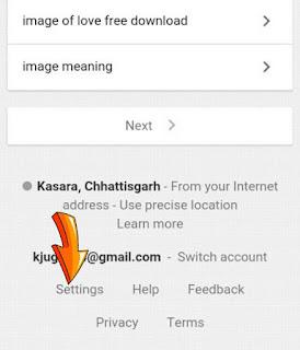 Google setting