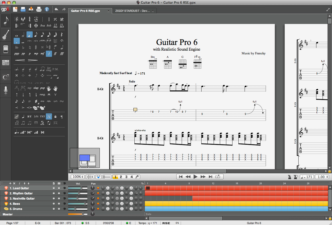 Screenshot Guitar Pro 6