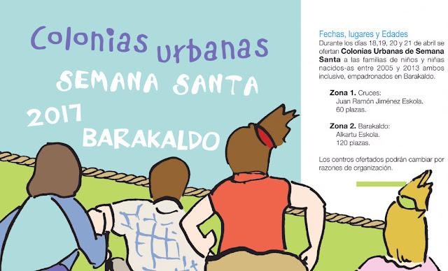 folleto de las colonias infantiles de Semana Santa