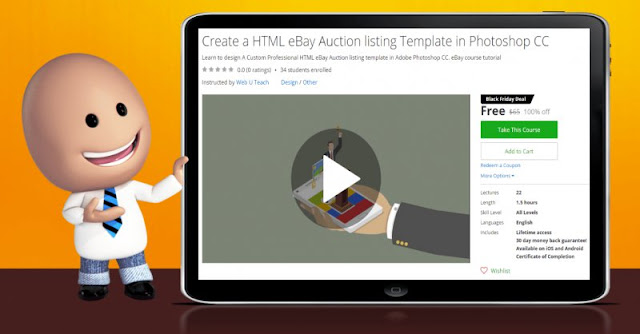 [100% Off] Create a HTML eBay Auction listing Template in Photoshop CC| Worth 65$