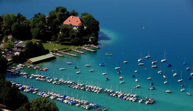 Wörthersee Gölü Klagenfurt Avusturya