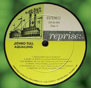 label from Jethro Tull - Aqualung (1971 Reprise/Gamma GX 01-459)