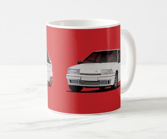 White Citroen BX GTi coffee mugs