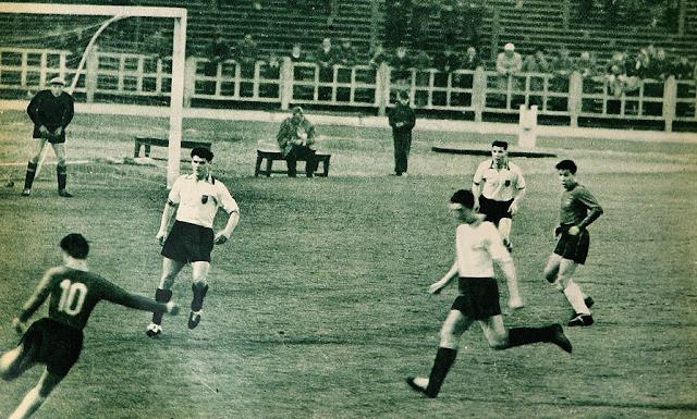 Bélgica y Chile en partido amistoso, 13 de abril de 1960