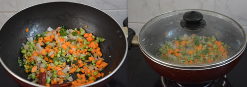 Bulgur with mixed vegetables