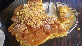 Half eaten giant pancake Vancouver