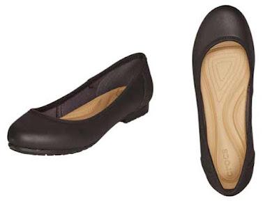 Bailarinas marca Crocs negras en oferta