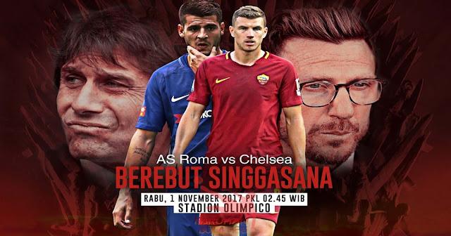 AS Roma vs Chelsea 1 November 2017