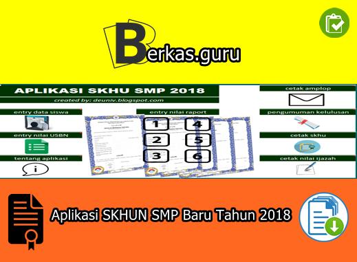 Aplikasi SKHUN SMP Baru Tahun 2018