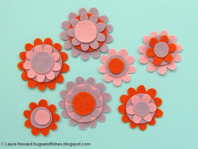 cut out the felt flower pieces