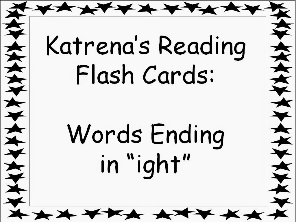Student Survive 2 Thrive: Katrena's Reading Flash Cards