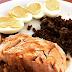 Ovos + salmão + carne moída