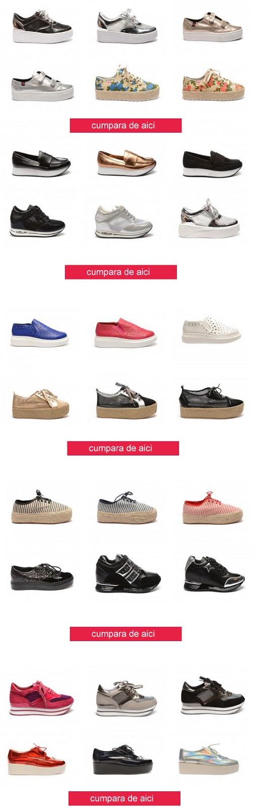 Pantofi sport dama cu talpa groasa iefttini