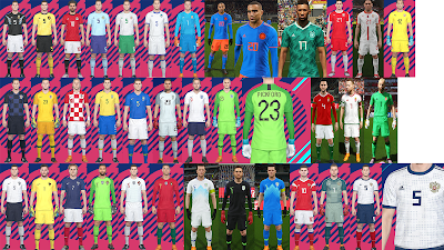 PES 2018 National Team Kitpack v4 by Hawke