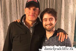 Woody Harrelson visits Daniel Radcliffe at The Lifespan of a Fact