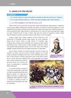 10. Sınıf Tarih Ders Kitabı Cevapları İlke Yayınları Sayfa 14