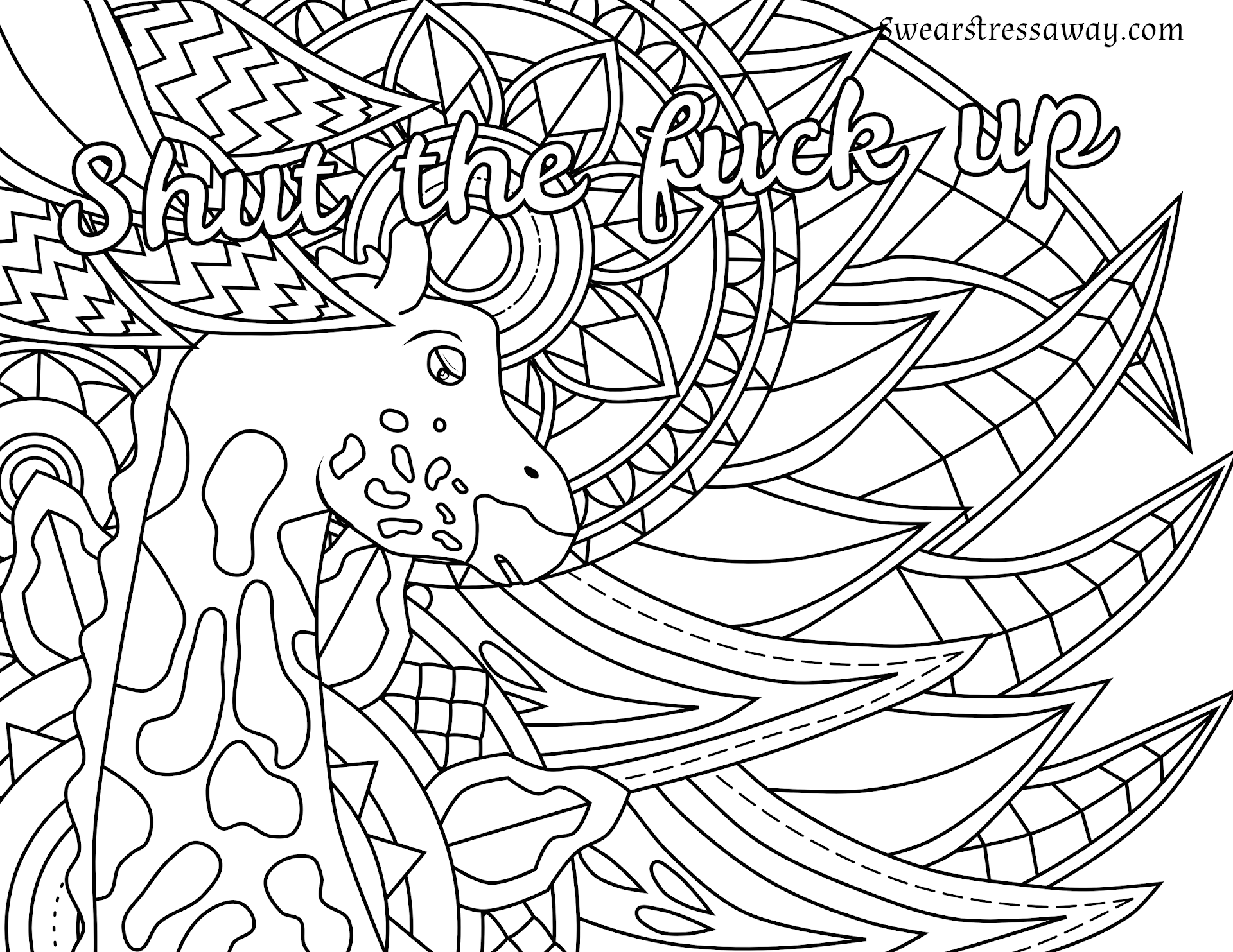 Swear Word Coloring Book Shut Your Fucking Trap