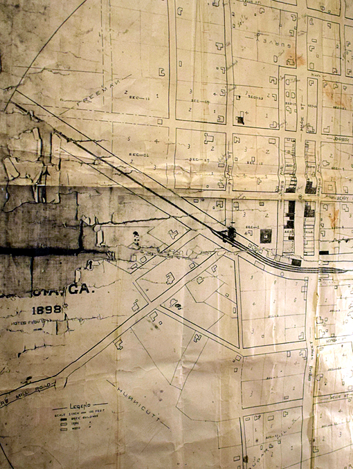 1898 Map of Senoia | Senoia Area Historical Society Museum | Photo: Travis S. Taylor