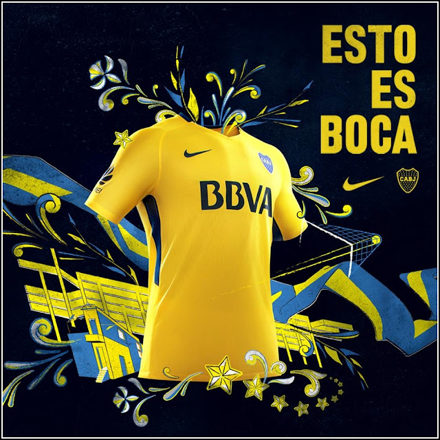 Boca Juniors 17-18 Nike Away Kit