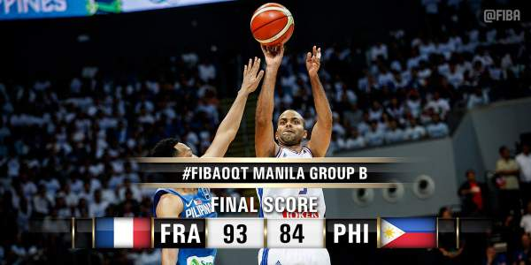 France 93, Philippines 84 | 2016 FIBA OQT. Image courtesy of FIBA