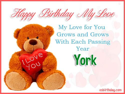 York Happy Birthday My Love