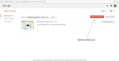Webmaster Tools añadiendo propiedad