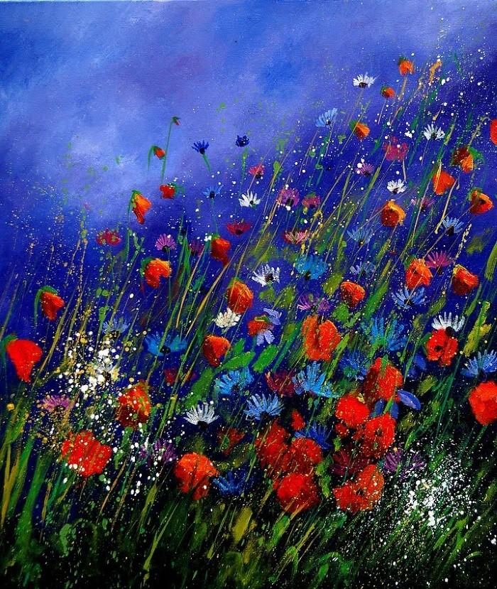 Pol Ledent. Современный художник-самоучка. Пейзажи и цветы 19