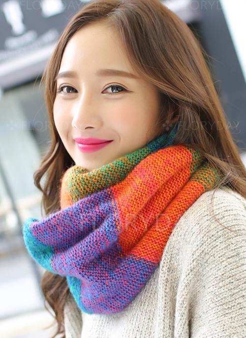 Elegant Color Block Scarves