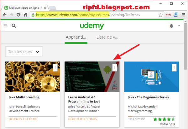 Comment Télécharger vos cours Udemy en totalité sur Windows
