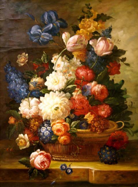 Pintura de Jarro com Flores