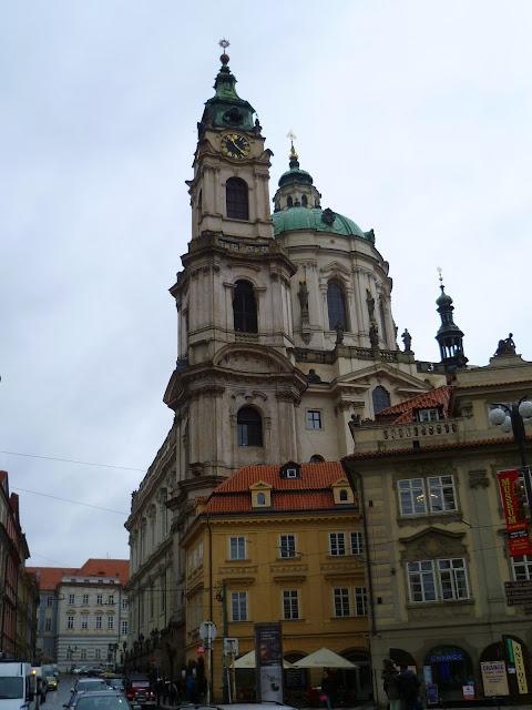 Чехия, Прага - храм Св. Микулаша на Малостранской площади (Czech Republic, Prague - Church of St. Nicholas in the Lesser Town Square)