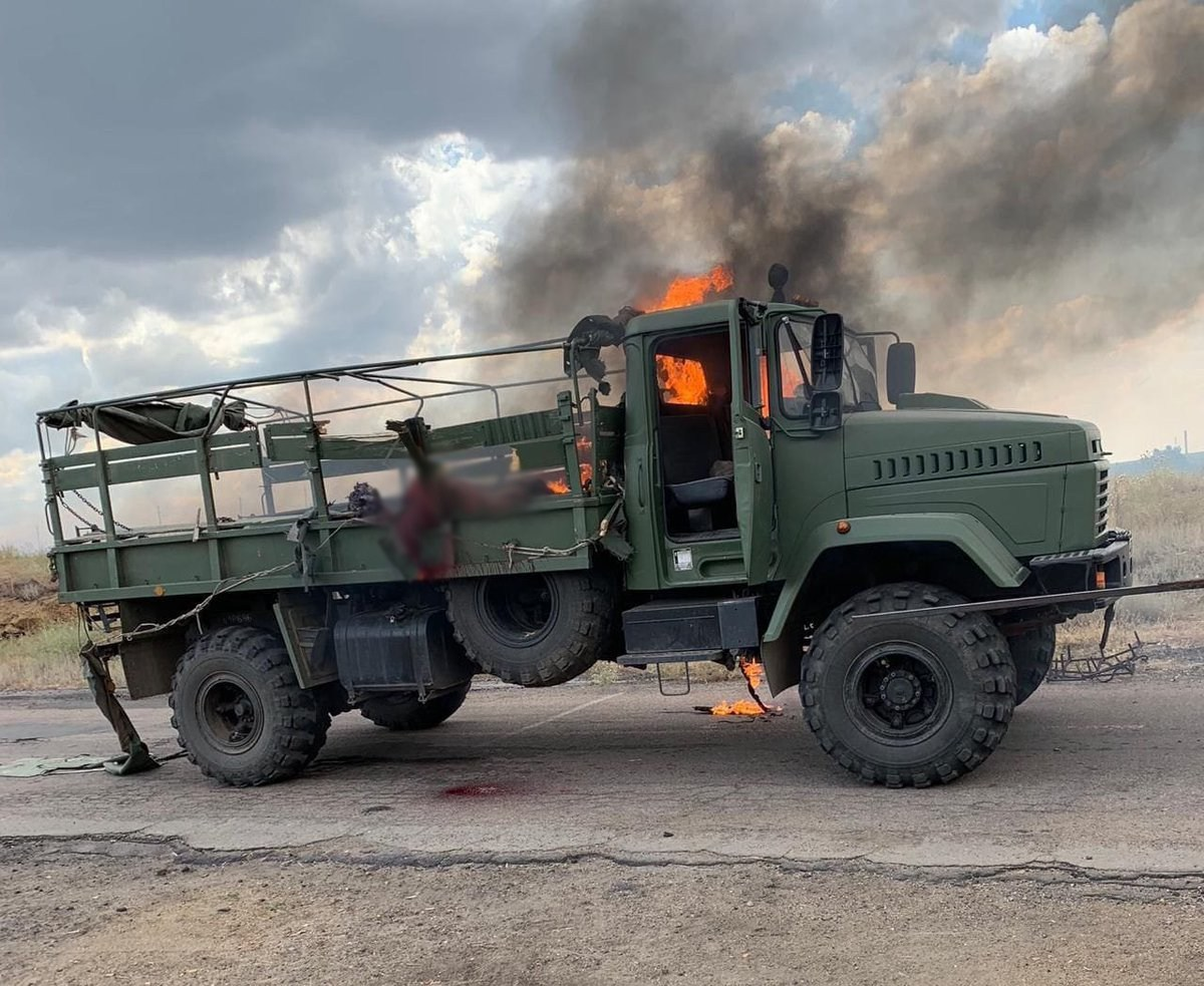 One soldier was killed and one wounded on July 10 after an anti-tank missile hit a military truck