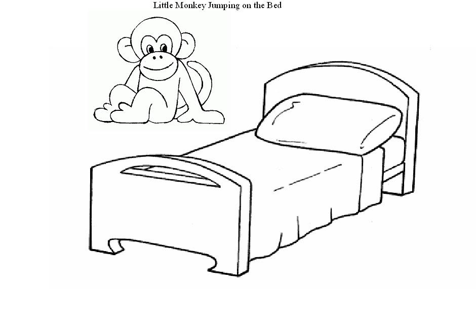 Educa 231 227 O Infantil Atividades Para O Maternal Macaco Pulando Na Cama Para Colorir